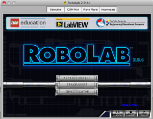 Tools > ROBOLAB 2.9.4d...