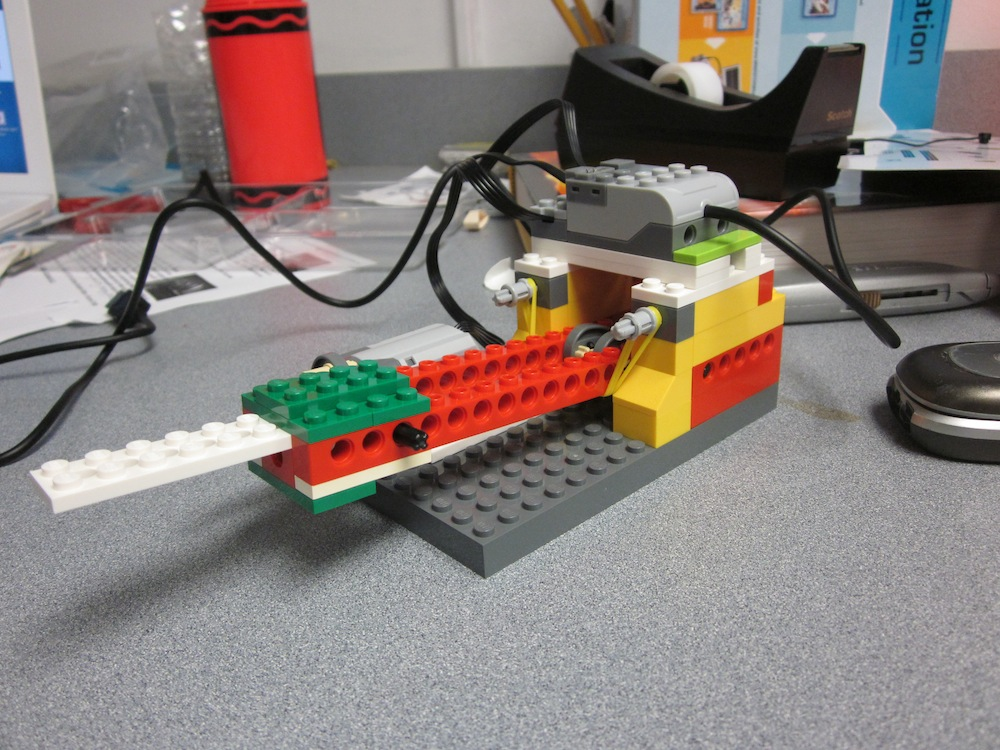 How to build a simple lego motor science project
