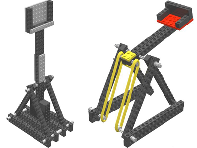 Levers trebuchets and catapults lego engineering for Catapult design plans for physics