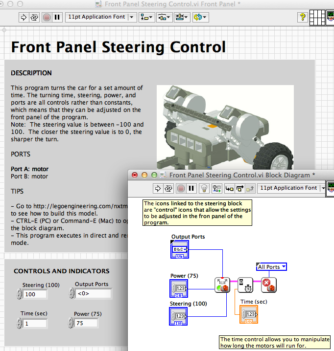 Labview Examples Motors Lego Engineering