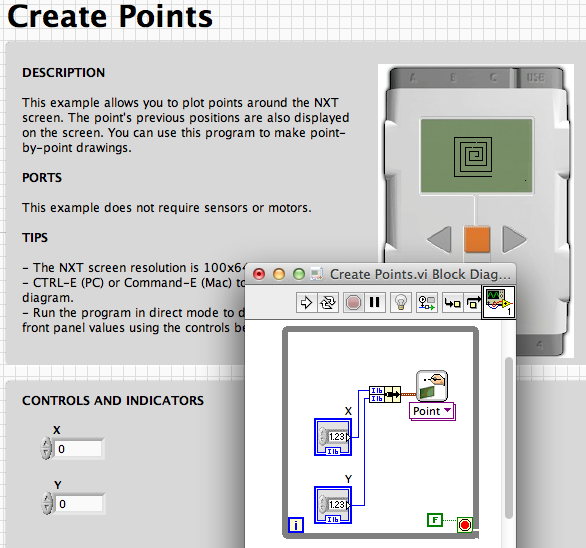 LabView examples: Display – LEGO Engineering