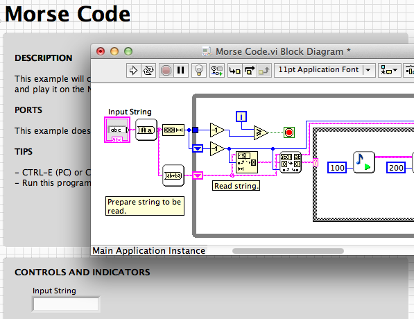LabView examples: Projects – LEGO Engineering