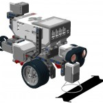 EV3 robot with 1 color sensor and black line
