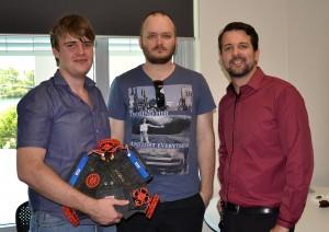 Engineering Students Karl & Samual with Jay Hobbs