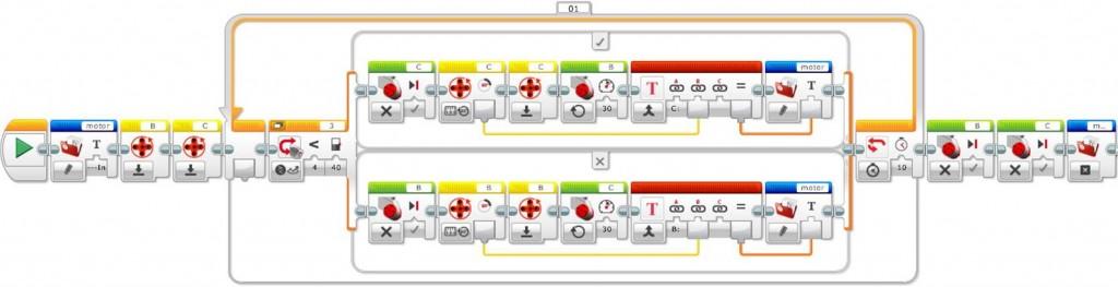 Correct line follower program with file access and internal rotation sensor blocks