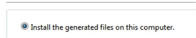 Install the generated files