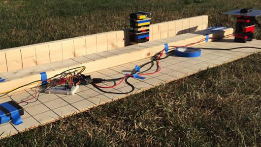 GPS accuracy testing with LEGO bricks