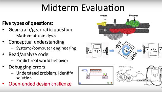 Assessing student work in robotics and engineering