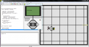 QEV3BotSim Virtual programming and testing screen