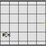 Playfield mat with virtual QEV3Bot model