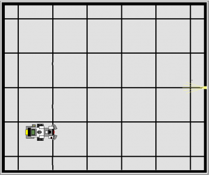 Virtual Playfield mat with virtual QEV3Bot model