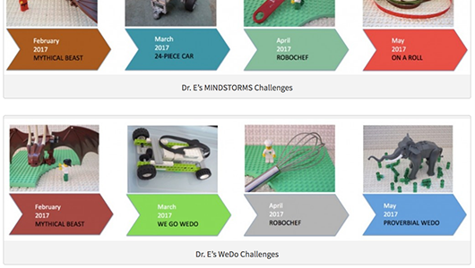 New cycles of Dr. E's MINDSTORMS and WeDo Challenges