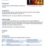 Robotics challenges: Workshop handouts